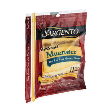 Sargento Natural Muenster Deli Style Sliced Cheese - 11 CT