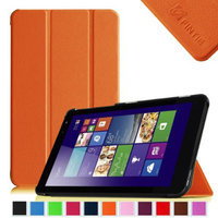 Fintie Slim Shell Case Lightweight Stand Cover For New Dell Venue 8 (2014 Version) 8-Inch Android Tablet, Orange