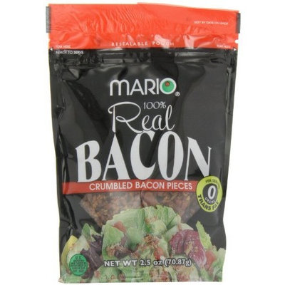 Mario Camacho Crumbled Bacon Pieces, 2.5-Ounce Packages (Pack of 6)
