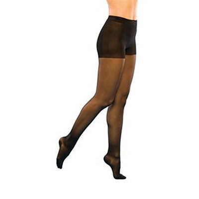 Sigvaris 120P Sheer Fashion 15-20 mmHg Pantyhose Size: E, Color: Taupe 29