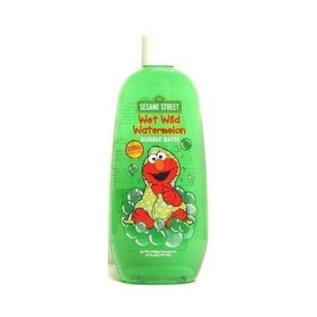 Sesame Street Elmo Wet Wild Watermelon Bubble Bath 16 oz. (3-Pack) with Free Nail File