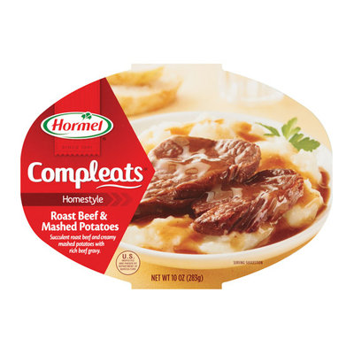 Hormel : Roast Beef & Gravy w/Mashed Potatoes Compleats Microwave Bowls
