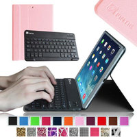 Fintie SmartShell Cover with Wireless Bluetooth Keyboard Case for Apple iPad Air / iPad 5 (5th Generation), Pink