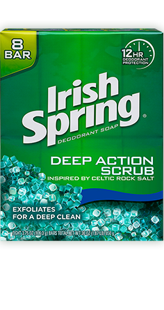 Irish Spring Deep Action Scrub Bar Soap