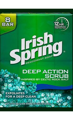 Irish SpringDeep Action Scrub Bar Soap