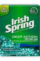 Irish SpringDeep Action Exfoliating Scrub Bar Soap