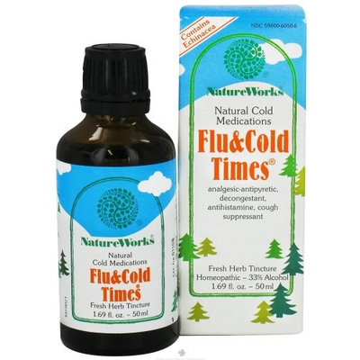 Flu & Cold Times Tincture by Nature Works 1.69 oz Liquid