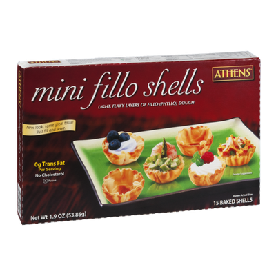 Athens Mini Fillo Shells - 15 CT
