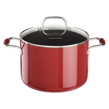 KitchenAid 8 Quart Aluminum Stockpot - Red
