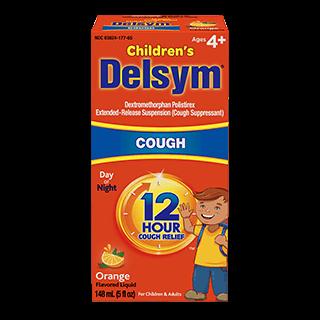 Delsym® Cold Medicines 12 Hour Children's Cough Medicine, Orange