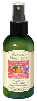 Avalon Grapefruit Geranium Deodorant Spray