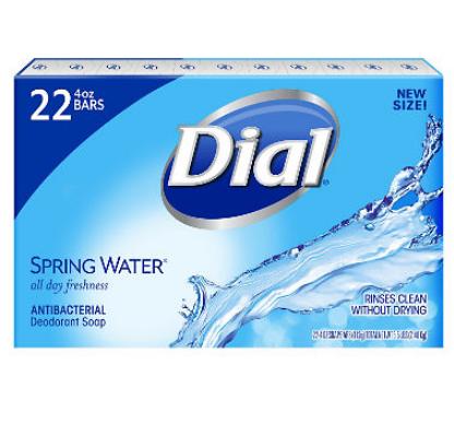 Dial® Spring Water Antibacterial Deodorant Soap