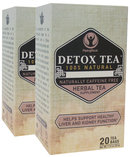 Piping Rock Detox Herbal Tea 2 Boxes x 20 Tea Bags
