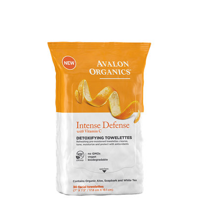 Avalon Organics Intense Defense With Vitamin C Detoxifying Towelettes