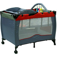 Dream on me Incredible 2 Level Fullsize Play Yard with Changing Top - Gray