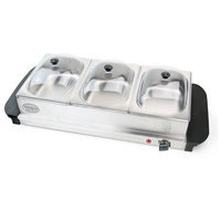Nostalgia Electrics BCD-332 3-Station Buffet Server & Warming Tray