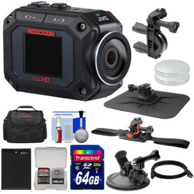 JVC GC-XA2 Adixxion Quad Proof Full HD Wi-Fi Digital Video Action Camera Camcorder with Handlebar, Helmet, Suction Cup & Dash Mounts + 64GB Card + Case + Battery + Kit