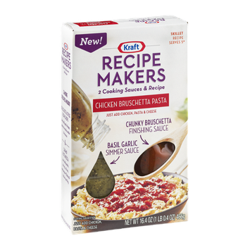 Kraft Recipe Makers Cooking Sauces Skillet Recipe Chicken Bruschetta Pasta