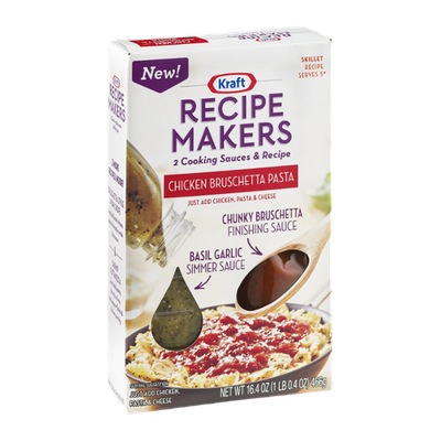 Kraft Recipe Makers Cooking Sauces Skillet Recipe Chicken Bruschetta Pasta