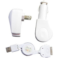 Inland Pro Apple iPhone/iPod AC/DC Charger Cable