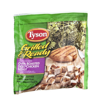 Tyson Grilled & Ready Diced Chicken Breast Oven Roasted Fully Cooked
