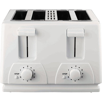 Brentwood 4 Slice Toaster (White)
