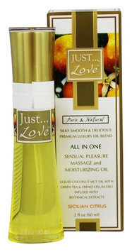 Just Pure Essentials - JUST Love All In One Sensual Pleasure Massage and Moisturizing Oil Sicilian Citrus - 2 oz.
