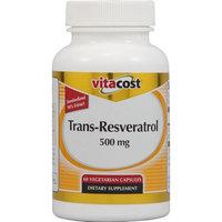 Vitacost Brand Vitacost Trans-Resveratrol -- 500 mg - 60 Vegetarian Capsules