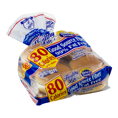 Healthy Life White Sandwich Buns - 8 CT