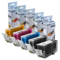 Canon PGI-225 & CLI-226 Compatible Set of 5 Ink Cartridges: 1 Pigment Black PGI225, 1 each of CLI226 Black/ Cyan / Magenta / Yellow