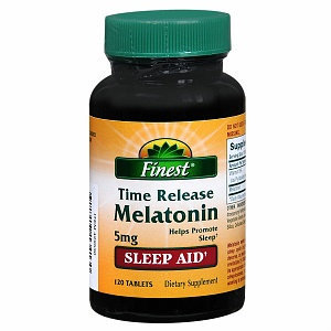Finest Melatonin 5mg Time Release Tablets