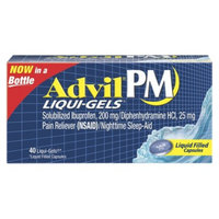 Advil Pain Reliever and Night Time Sleep Aid Liqui Gels - 40 Count