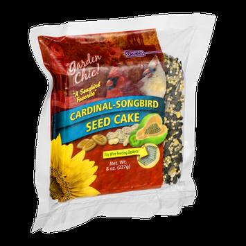 Brown's Garden Chic! Seed Cake Cardinal-Songbird