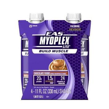 EAS Myoplex Lite Ready-to-Drink Nutrition Shake, Chocolate Fudge, 11 fl. oz.., (Pack of 24)