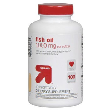 up & up up&up Fish Oil 1000 mg Softgels - 100 Count