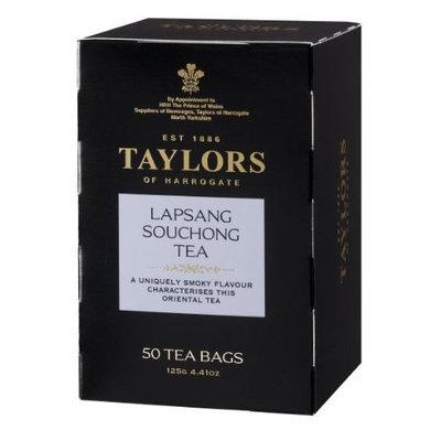 Taylors of Harrogate Lapsang Souchong Tea, 50-Count Tea Bags (Pack of 6)