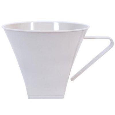 King Zak Ind Lillian Tablesettings 35680 Sahara 8 Oz Plastic Flared Square Coffee Mugs - 192 Per Case