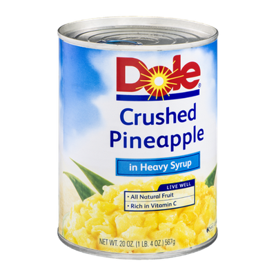 Dole Crushed Pineapple In Heavy Syrup