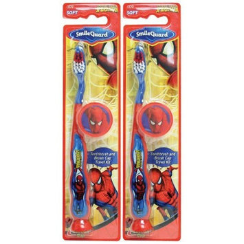 Dr. Fresh Spiderman Barrel Toothbrush Suction Bottom - 3D Sticker - Cap