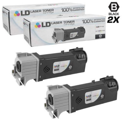 LD Compatible Replacements for Xerox 106R01334 Set of 2 Black Laser Toner Cartridges for use in Xerox Phaser 6125, and 6125N Printers