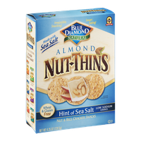 Blue Diamond Natural Almond Nut-Thins Hint Of Sea Salt Cracker Snacks