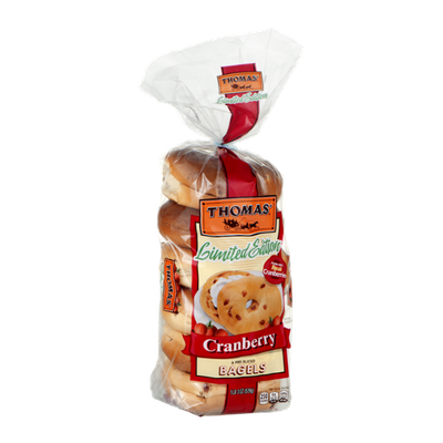 Thomas' Limited Edition Pre-Sliced Bagels Cranberry - 6 CT