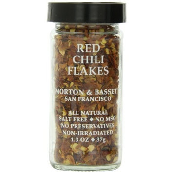 Morton & Bassett Red Chili Flakes, 1.3-Ounce Jars (Pack of 3)