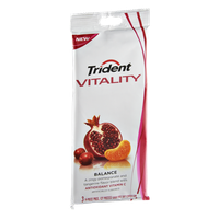 Trident Vitality Balance Sugar Free Soft Center Gum