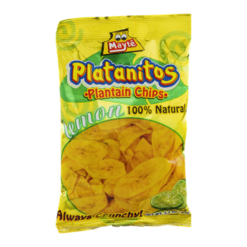Mayte Platanitos Plantain Chips Lemon