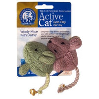 Gold Crest JPI JAKKS Pacific CFA Active Cat Wooly Mice (2 Pack)