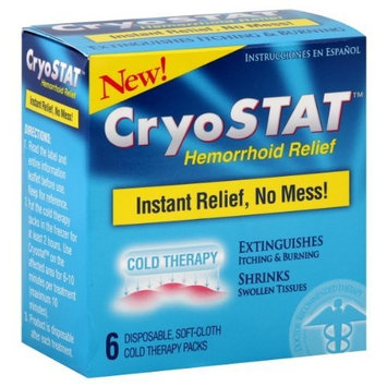 Lil' Drug Store CryoStat Hemorrhoid Relief disposable cold therapy packs 6 ct.