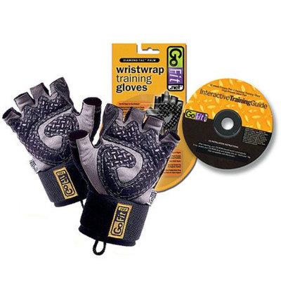 GoFit Diamond-Tac Weightlifting Glove with Wrist Wrap Black medium