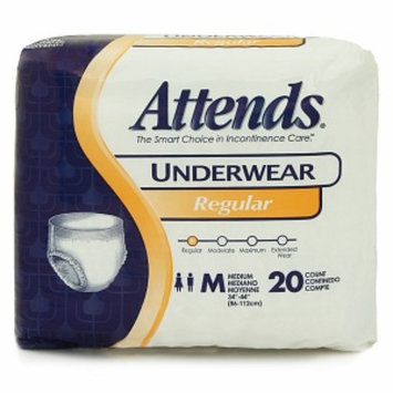 Attends Regular Absorbency Underwear - Medium 34in - 44in