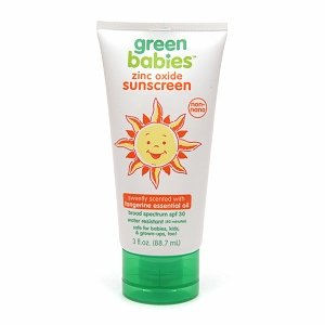Green Babies Zinc Oxide SPF 30 Sunscreen Sweetly Scented with Tangerine Essential Oil